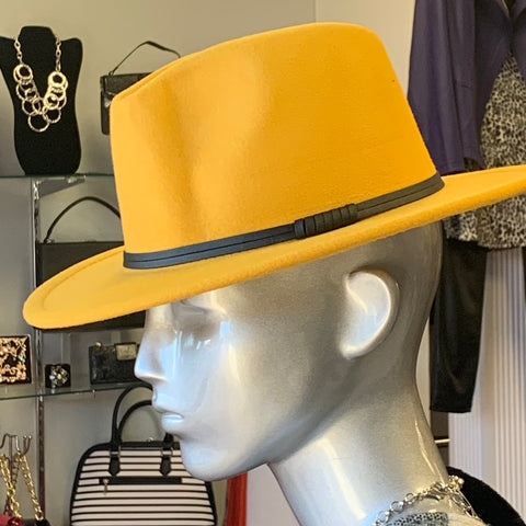 Yellow Fashion Fedora