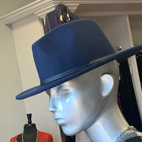 Navy Fashion Fedora