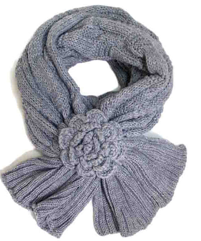 Flower Loop-Thru Scarf