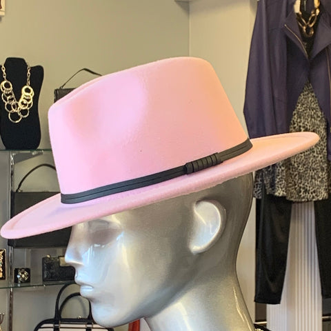 Pink Fashion Fedora