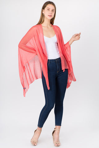 Coral Wave Trim Duster