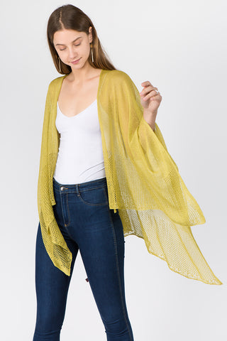 Yellow Wave Trim Duster