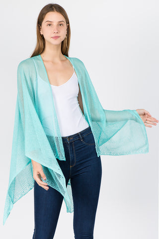 Turquoise Wave Trim Wrap