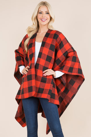 Red Buffalo Plaid Ruana