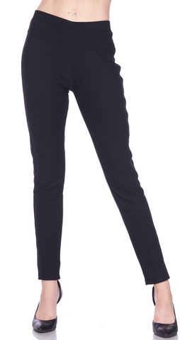 Sleek Slim Pants (Black)