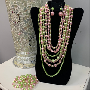 Pink and Green Pearls