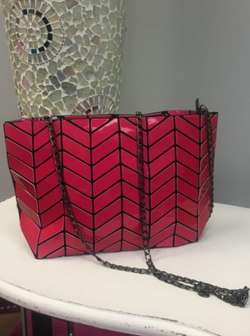 Shiny Fuchsia Mini Bag