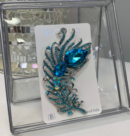 Teal Blue Broach
