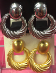 Twisted Circle Clip-on Earrings