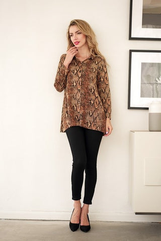 Animal Button-Up Shirt