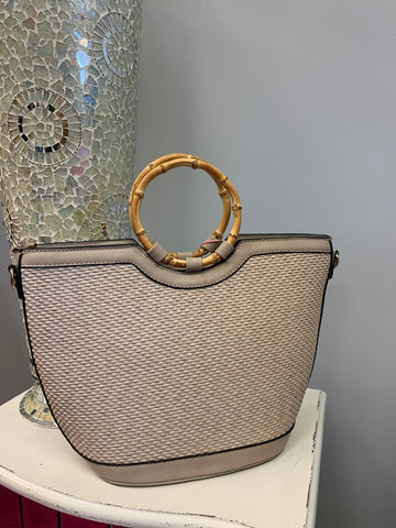 Straw Bamboo Bag