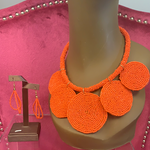Orange Sassy Circles Set