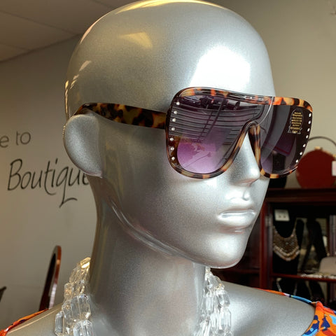 Tortoise Bling Sunglasses