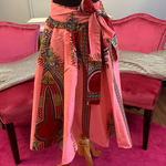 Ethnic Inspired Skirt - Pink/Red