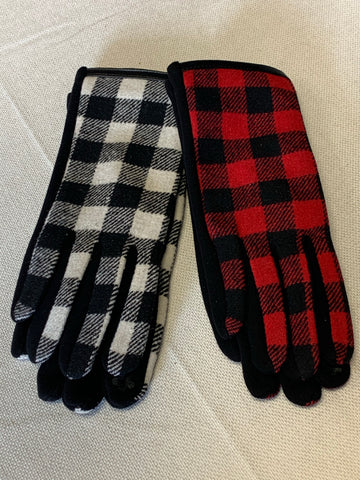 Buffalo Plaid Smart Gloves (2 Colors)