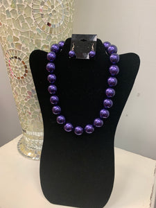 Single Purple Pearl Set