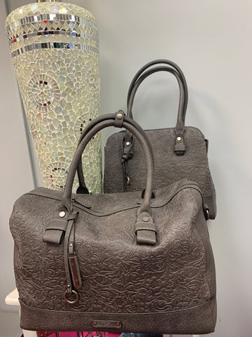 Grey Textured Travel Bags (2 sizes)