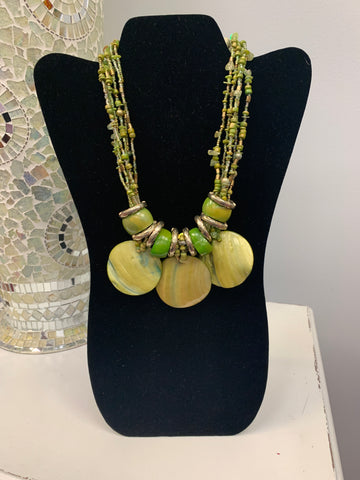 Lime Shells Necklace