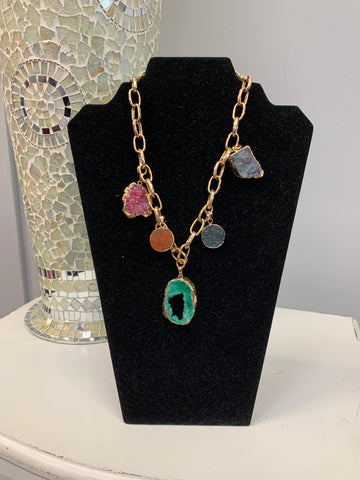 Color Stone Necklace