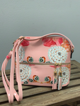 Pink Floral Patent Crossbody