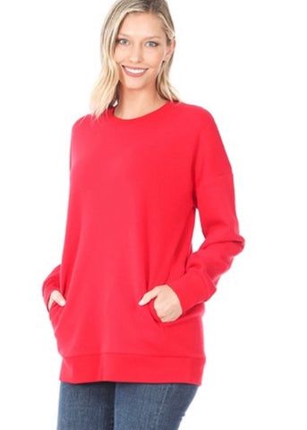 Cute-N-Comfy Sweatshirt - Ruby