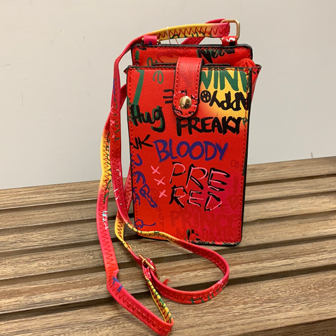 Little Red Graffiti Crossbody