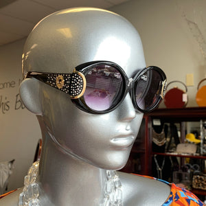 Black Gold Bling Sunglasses