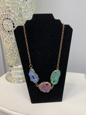 Long Color Stone Necklace
