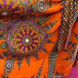 Ethnic Inspired Long Skirt - Orange