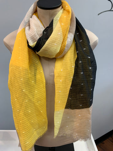 Yellow Tan Scarf