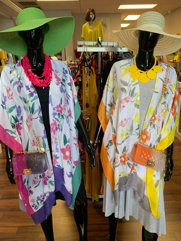 The Colorful Floral Coverup (2 Colors)