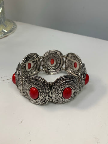 Red Jeweled Bracelet