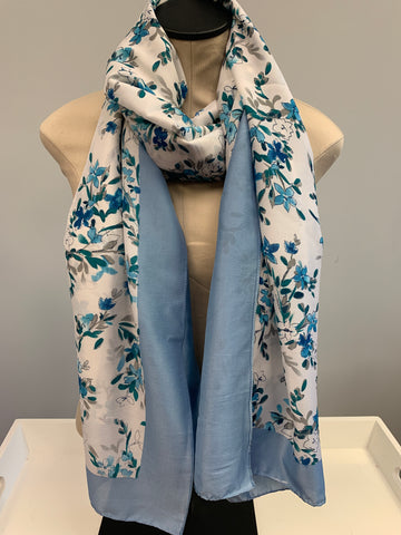 Blue Silk Scarf
