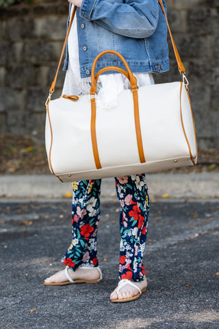 Diva Duffle Bag (Off White)