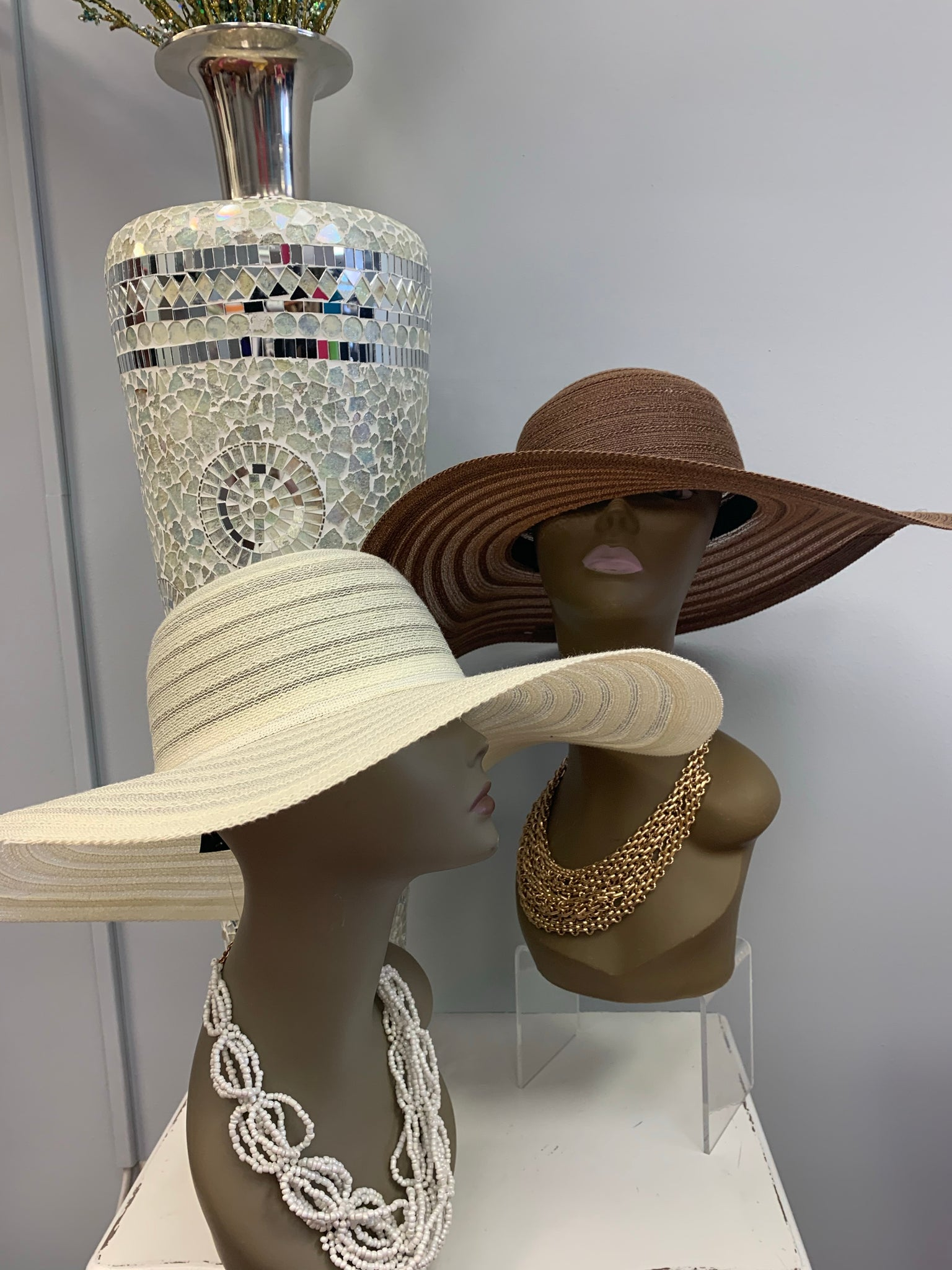 Solid Striped Straw Hat (2 colors)