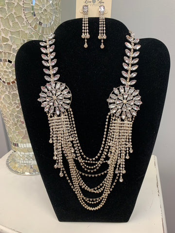 Bling Silver Statement Set