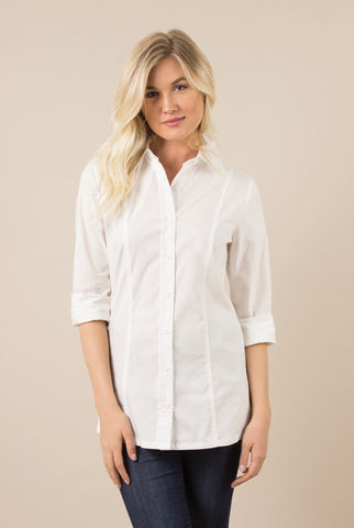 Long Sleeve Oxford Blouse