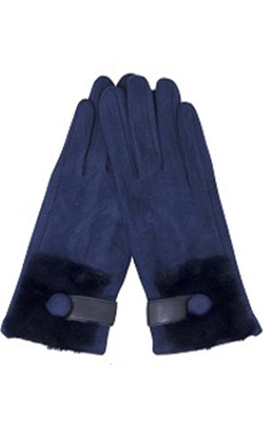 Fur Trim Smart Gloves (6 Colors)