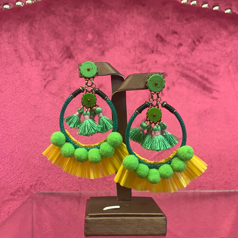 Lemon Lime Fringe Earrings