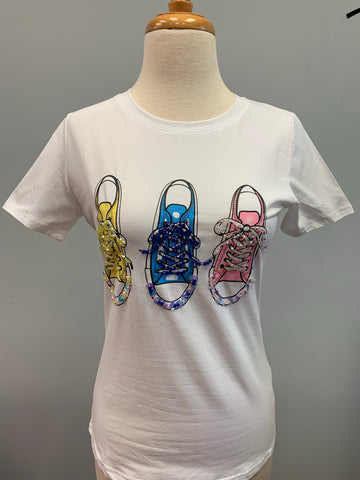 Sequin Sneakers T-Shirt