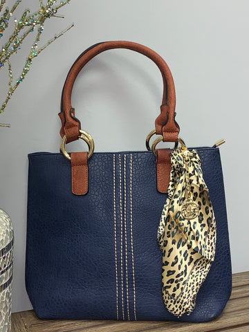 The Textured Navy Tote