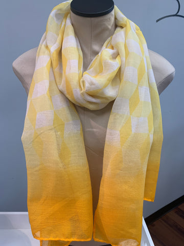 Yellow White Scarf