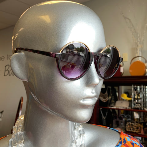 Violet Gold Trim Sunglasses