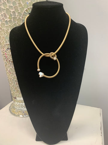 Gold Pearl 2-Way Necklace
