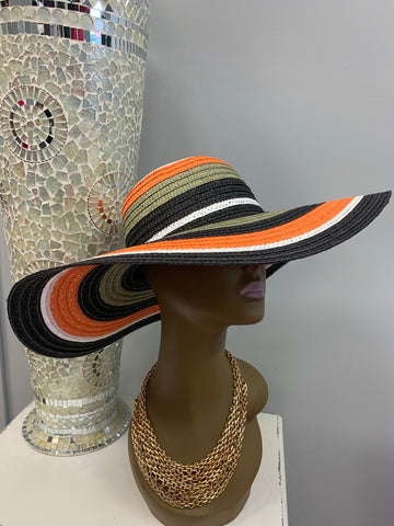Striped Straw Hat (3 colors)