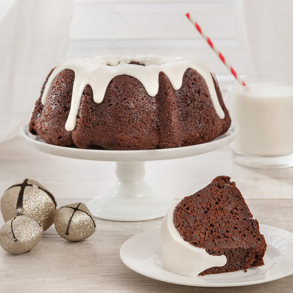 Chocolate with Peppermint Buttercream Bundt Cake