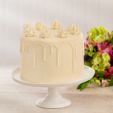 Golden Butter Vanilla 2-Layer Cake