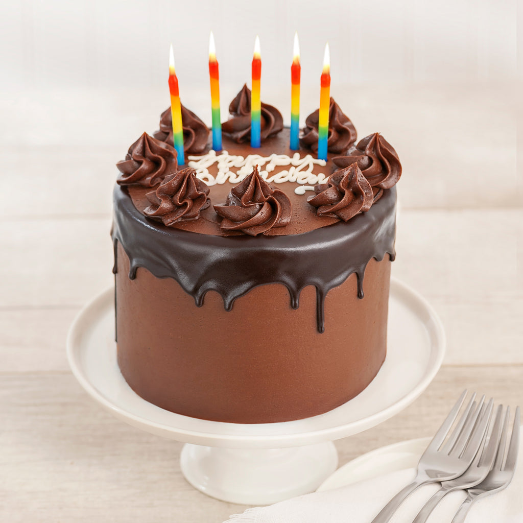 Happy Birthday Prize Winning Chocolate 4 Layer Cake We Take The Cake
