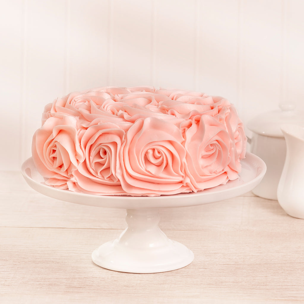 Pink Rose 2-Layer Cake