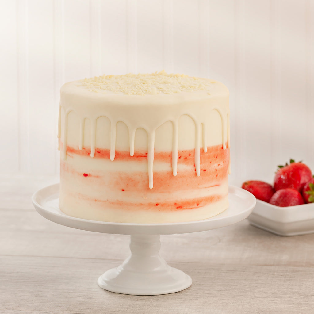 Fresh Strawberry 4-Layer Cake